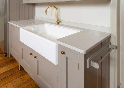 classic white porcelain butler sink